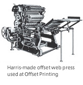Harris-made offset web press used at Offset Printing