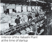 Interior of the Itabashi Plant at the time of startup