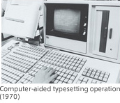 Computer aided typesetting operation(1970)